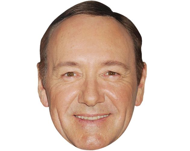 A Cardboard Celebrity Mask of Kevin Spacey