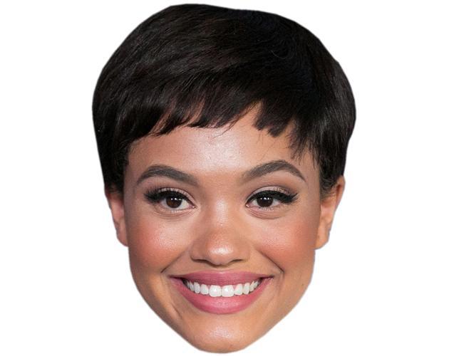 A Cardboard Celebrity Mask of Kiersey Clemons