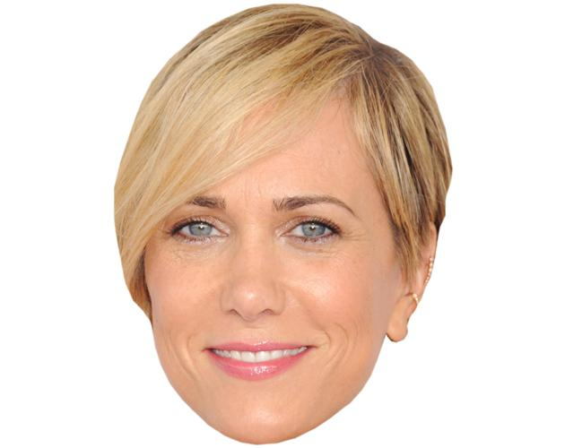 A Cardboard Celebrity Mask of Kritsen Wiig