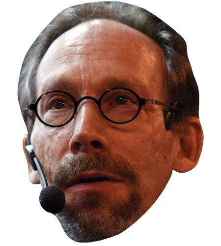 A Cardboard Celebrity Mask of Lawrence Krauss