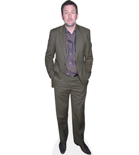 A Lifesize Cardboard Cutout of Lee Mack wearing a suit