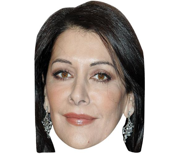 A Cardboard Celebrity Mask of Marina Sirtis