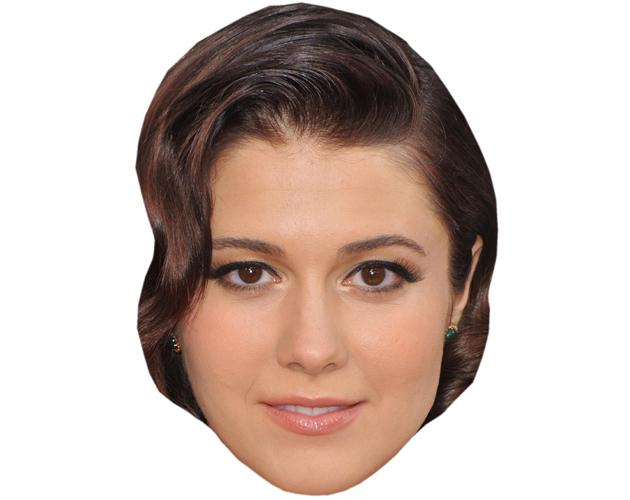 A Cardboard Celebrity Mask of Mary Elizabeth Winstead