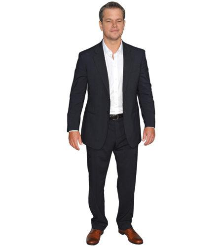 A Lifesize Cardboard Cutout of Matt Damon (Suit) wearing a suit