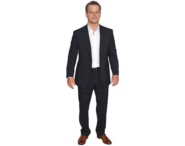 A Lifesize Cardboard Cutout of Matt Damon (Suit) wearing a suit