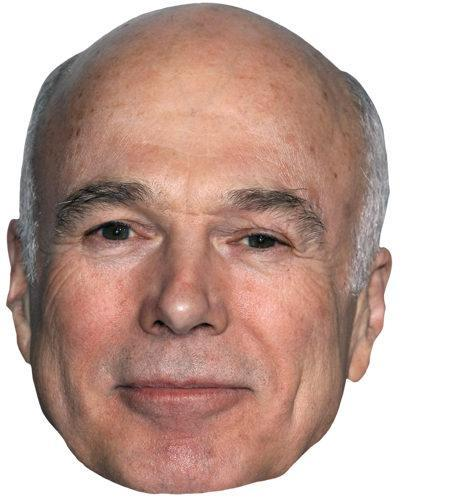 A Cardboard Celebrity Mask of Michael Hogan