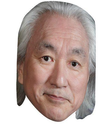 A Cardboard Celebrity Mask of Michio Kaku