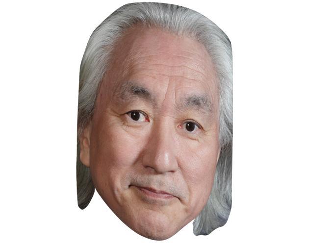 A Cardboard Celebrity Mask of Michio Kaku