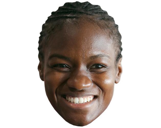 A Cardboard Celebrity Mask of Nicola Adams