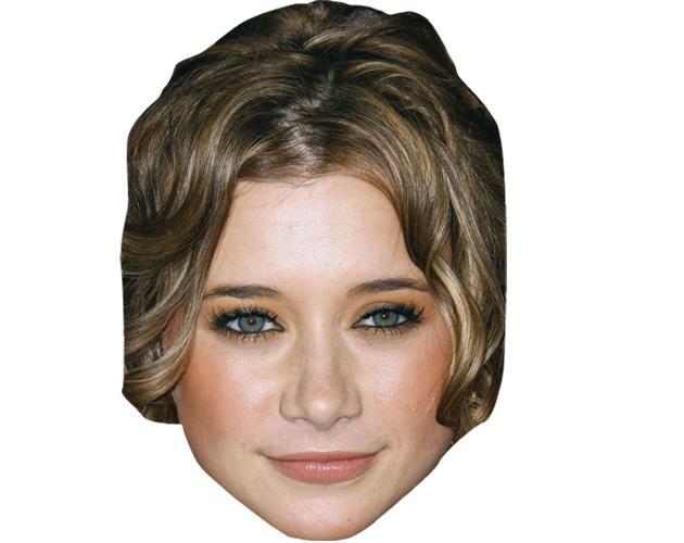 A Cardboard Celebrity Mask of Olesya Rulin