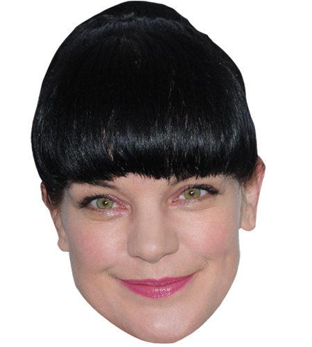 A Cardboard Celebrity Mask of Pauley Perrette