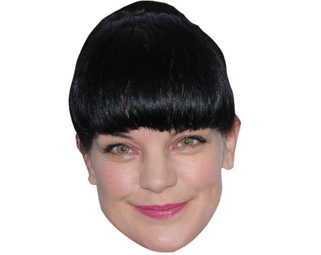 A Cardboard Celebrity Mask of Pauley Perrette