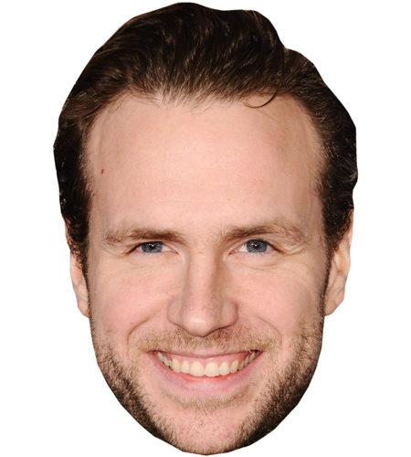 A Cardboard Celebrity Mask of Rafe Spall