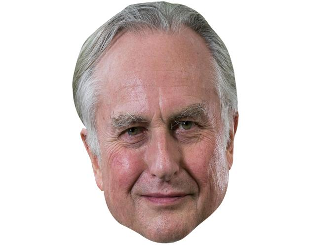 A Cardboard Celebrity Mask of Richard Dawkins