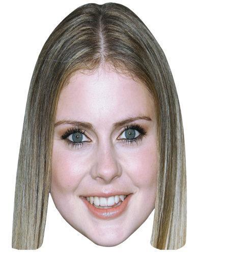 A Cardboard Celebrity Mask of Rose McIver