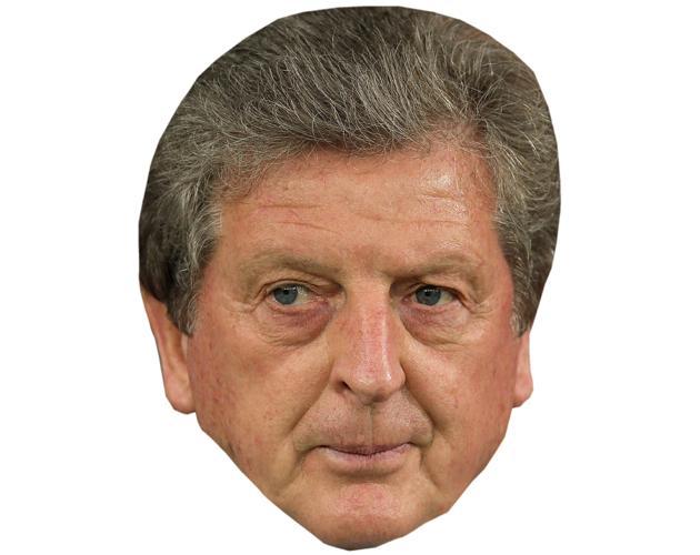 A Cardboard Celebrity Mask of Roy Hodgson