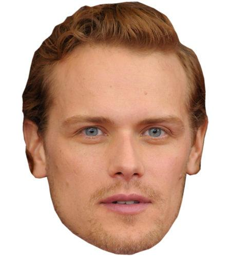 A Cardboard Celebrity Mask of Sam Heughan