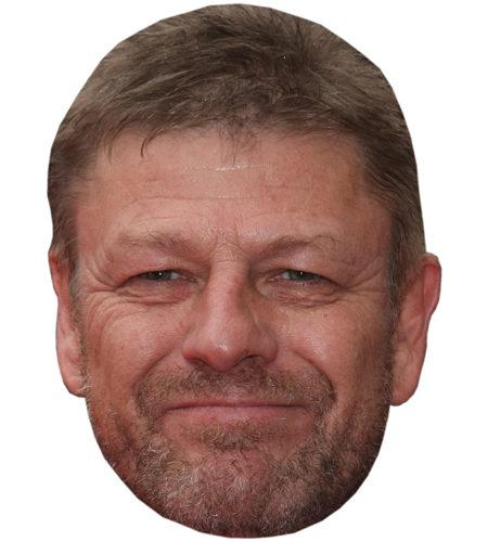 A Cardboard Celebrity Mask of Sean Bean