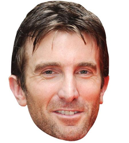 A Cardboard Celebrity Mask of Sharlto Copley