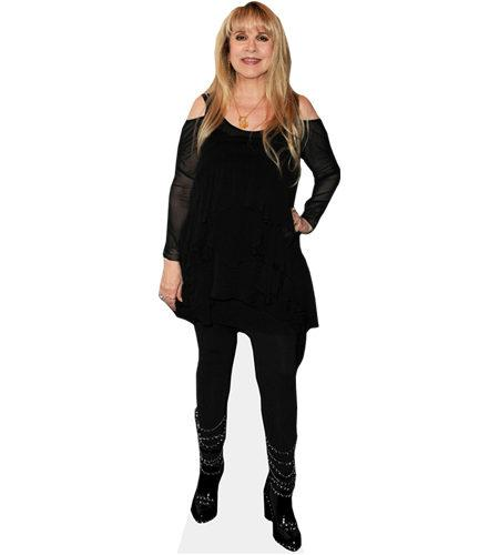 A Lifesize Cardboard Cutout of Stevie Nicks wearing a black outfit