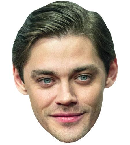 A Cardboard Celebrity Mask of Tom Payne