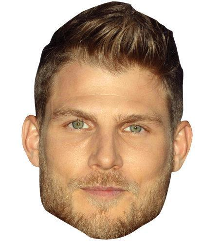 A Cardboard Celebrity Mask of Travis van Winkle