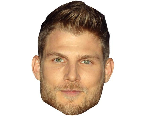 A Cardboard Celebrity Mask of Travis van Winkle