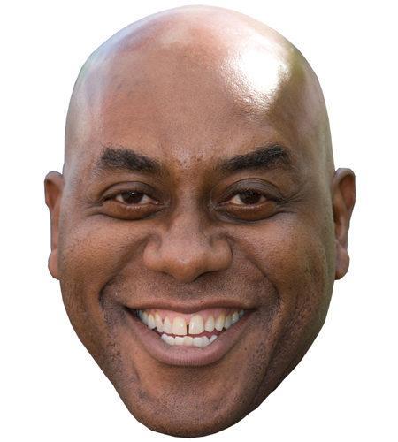 A Cardboard Celebrity Mask of Ainsley Harriott