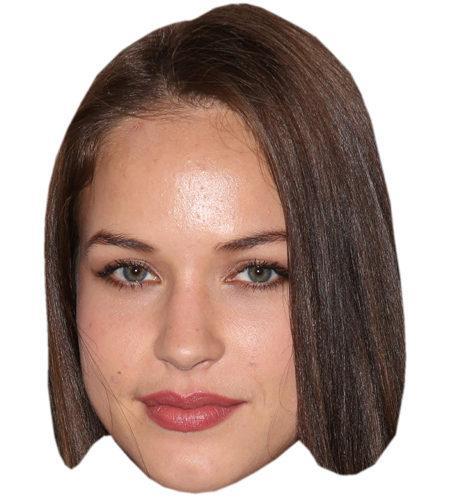 A Cardboard Celebrity Mask of Alexis Knapp