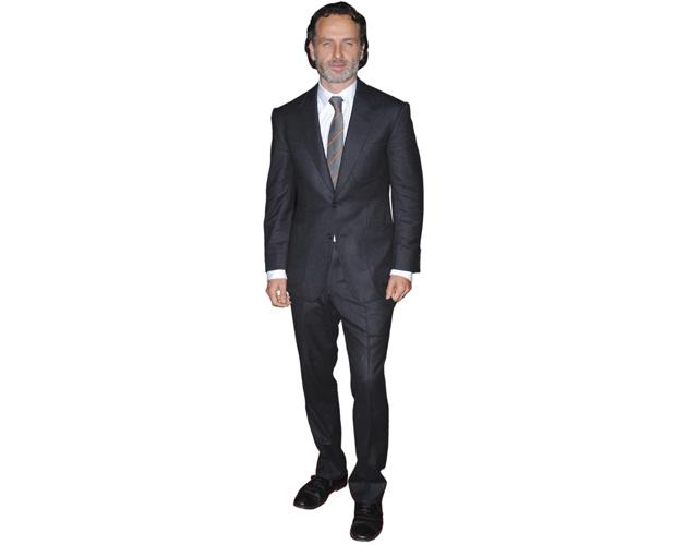 A Lifesize Cardboard Cutout of Andrew Lincoln wearing a suit
