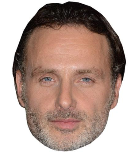 A Cardboard Celebrity Mask of Andrew Lincoln