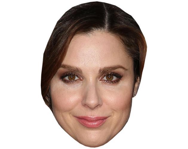 A Cardboard Celebrity Mask of Cara Buono