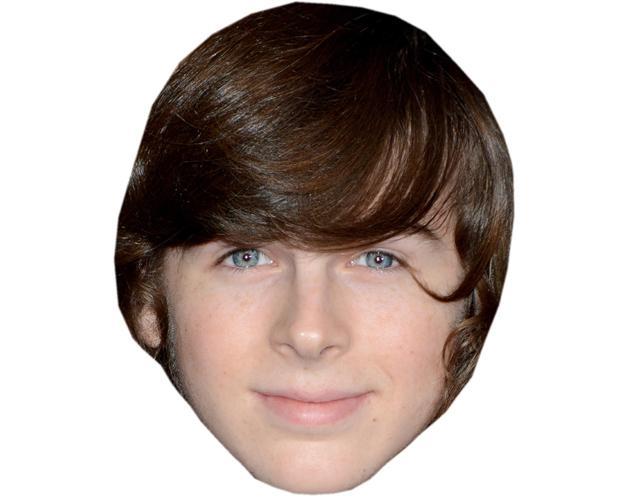 A Cardboard Celebrity Mask of Chandler Riggs