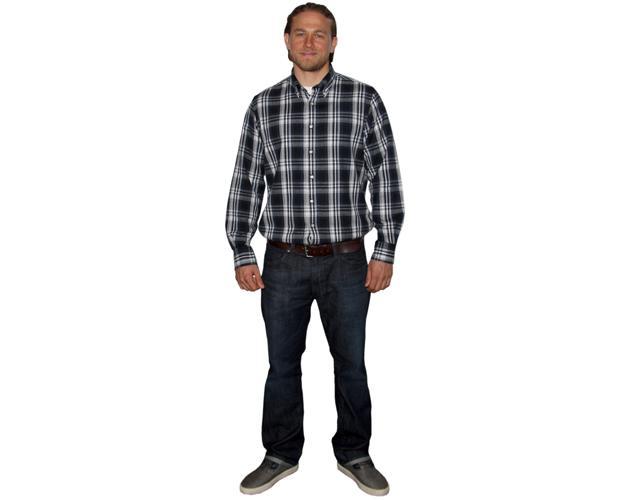 A Lifesize Cardboard Cutout of Charlie Hunnam (2016) wearing a shirt
