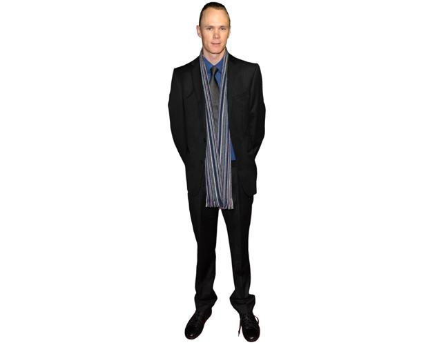 A Lifesize Cardboard Cutout of Chris Froome wearing a scarf