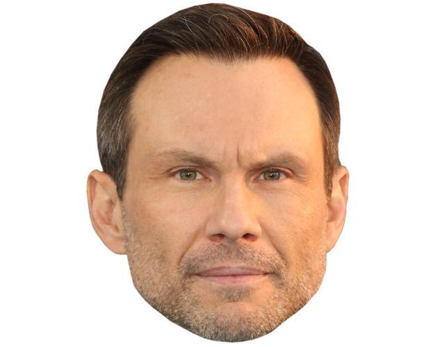 A Cardboard Celebrity Mask of Christian Slater