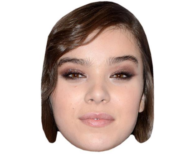 A Cardboard Celebrity Mask of Hailee Steinfeld