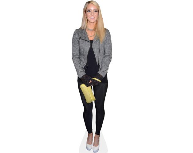 A Lifesize Cardboard Cutout of Jenna Mourey (Marbles) wearing a jacket