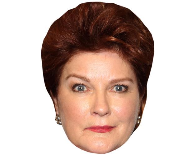 A Cardboard Celebrity Mask of Kate Mulgrew