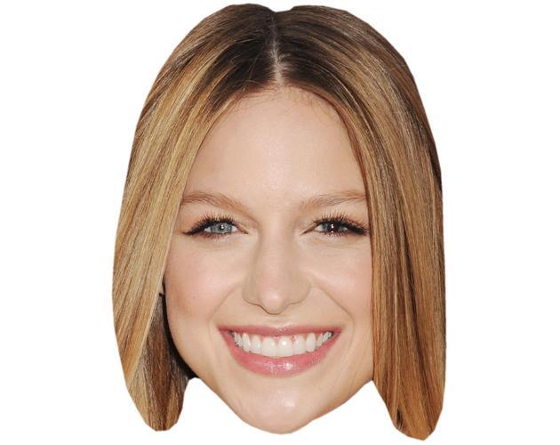 A Cardboard Celebrity Mask of Melissa Benoist