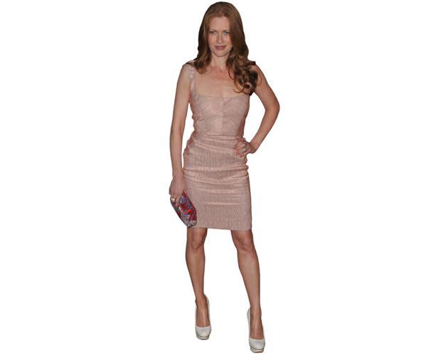 A Lifesize Cardboard Cutout of Mireille Enos wearing a dress