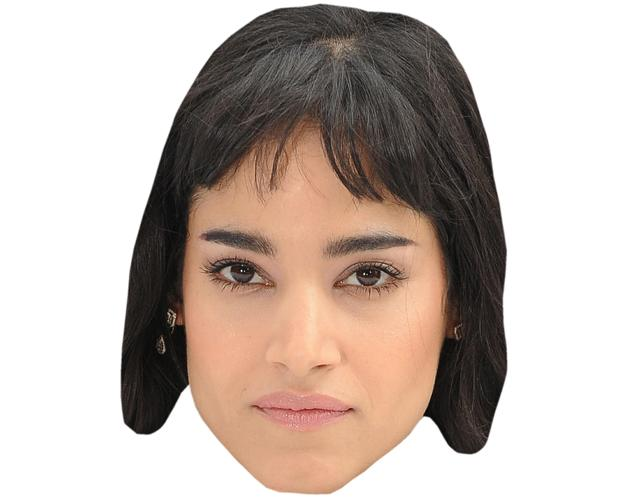 A Cardboard Celebrity Mask of Sofia Boutella