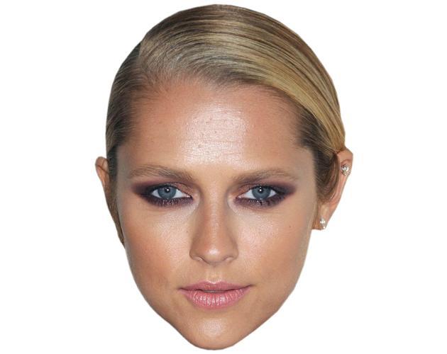 A Cardboard Celebrity Mask of Teresa Palmer