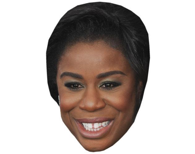 A Cardboard Celebrity Mask of Uzo Aduba