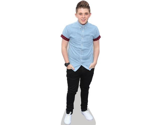 A Lifesize Cardboard Cutout of Nicholas Mcdonald wearing jeans