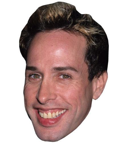 A Cardboard Celebrity Mask of Alexis Arquette
