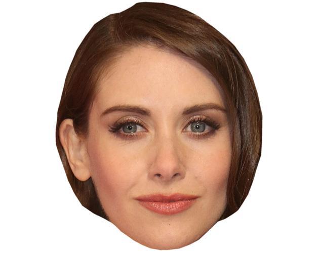 A Cardboard Celebrity Mask of Alison Brie