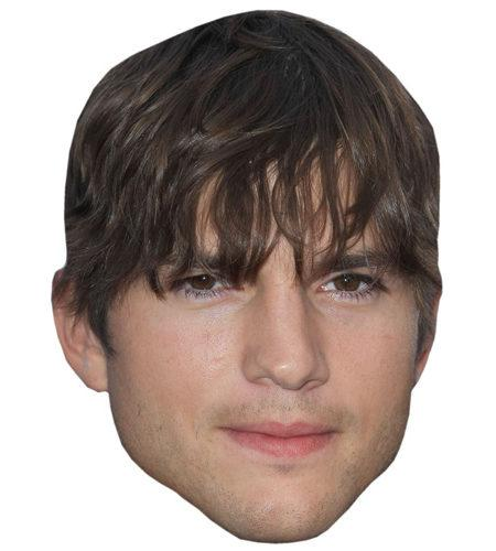 A Cardboard Celebrity Mask of Ashton Kutcher