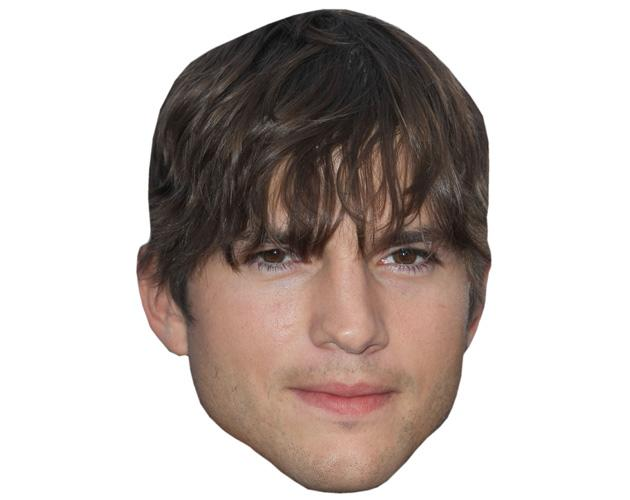 A Cardboard Celebrity Mask of Ashton Kutcher
