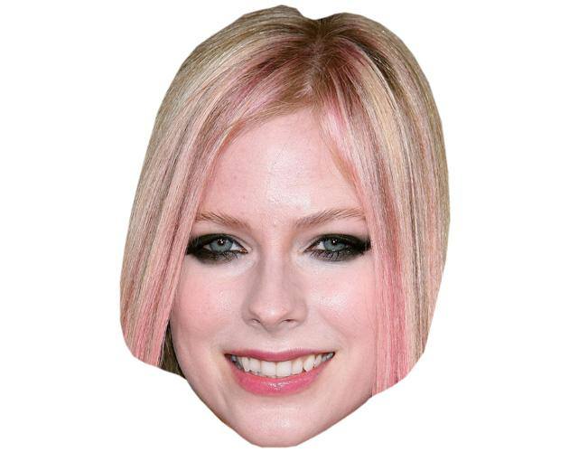A Cardboard Celebrity Mask of Avril Lavigne